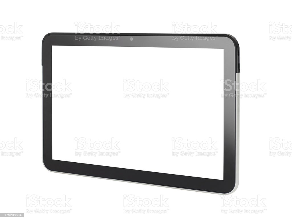 Digital Tablet+Two Clipping Paths royalty-free stock photo