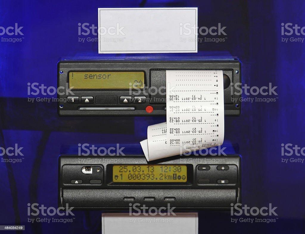 Digital Tachograph stock photo