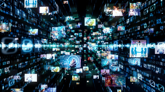 istock Digital technology concept. Binary code. 1032516472