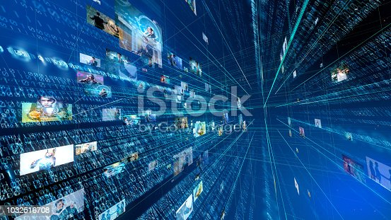 istock Digital technology concept. Binary code. 1032516708