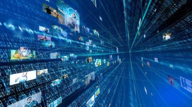 デジタル技術のコンセプトです。バイナリ コード。 ストックフォト