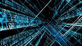 Digital technology concept. Binary code.
