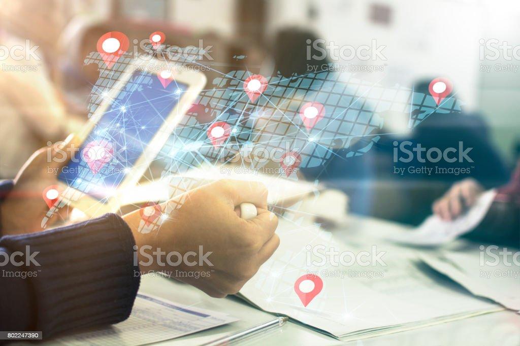 Digital teknik koncept bildbanksfoto