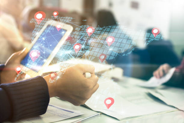 Digital technology concept stock photo