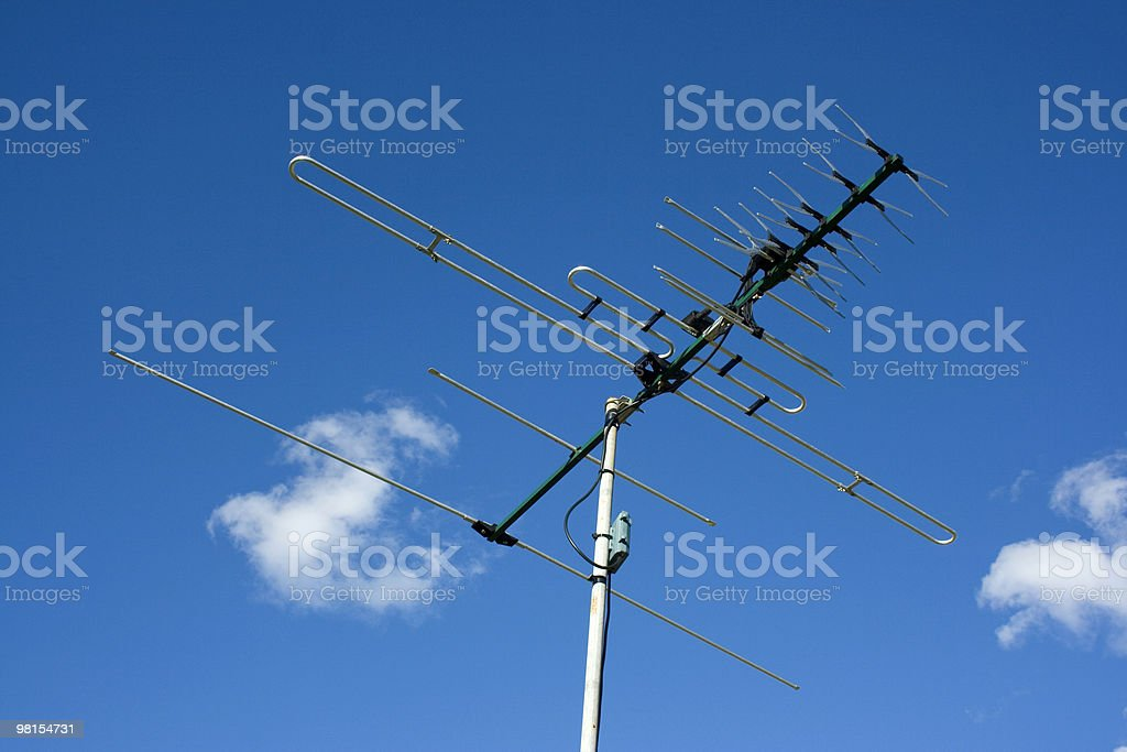 Digital Television Antenna royalty-free stock photo
