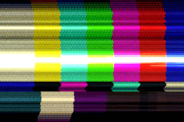 Digital television glitch pattern stock photo