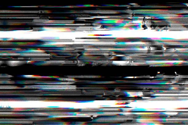 Digital television glitch pattern stock photo