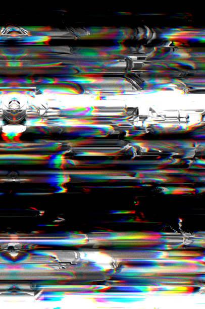 Digitales Fernsehen-Glitch-Muster – Foto