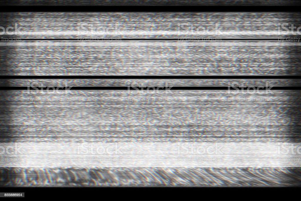 Digital television interference pattern stock photo