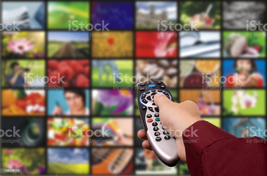 Digital television. Remote control. royalty-free stock photo