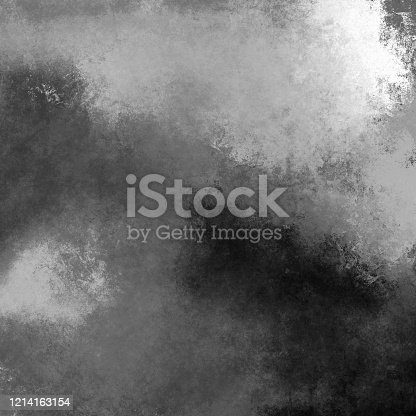 534130204 istock photo Digital textured overlay surface in black and white colors. Monochrome variety paint smears on wall. Creative sketch 1214163154