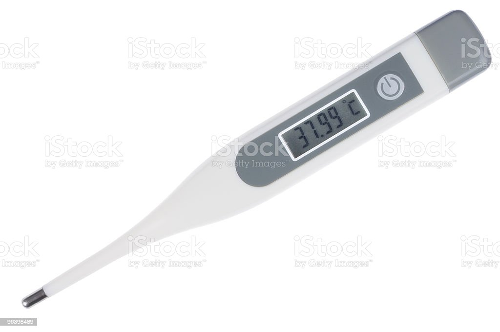 Digital Thermometer - Royalty-free Color Image Stock Photo