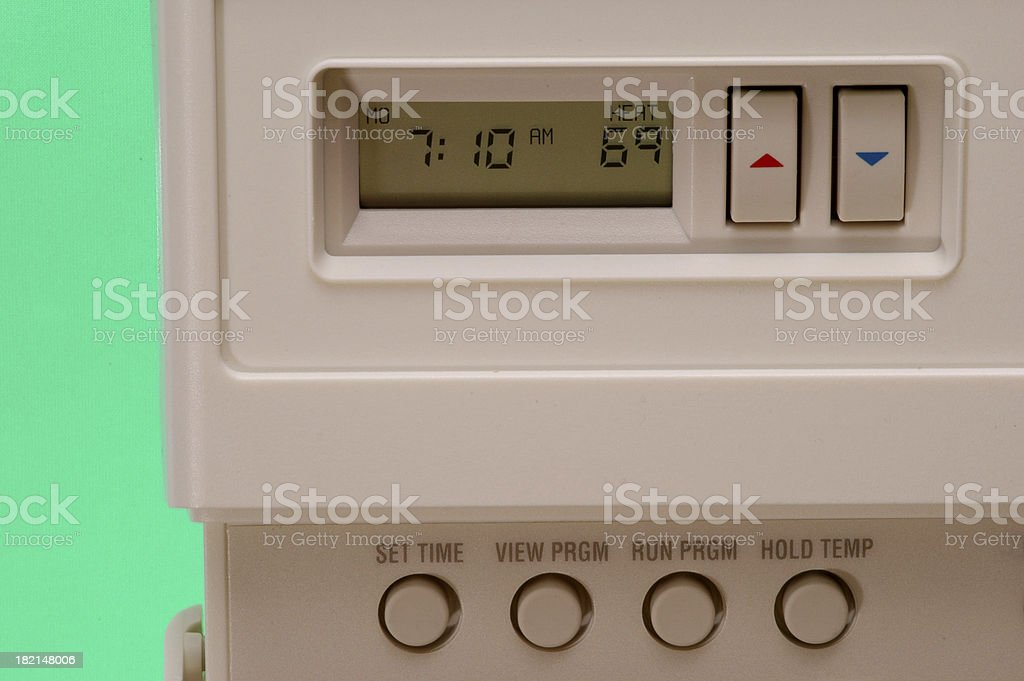 Digital Thermostat 2 royalty-free stock photo