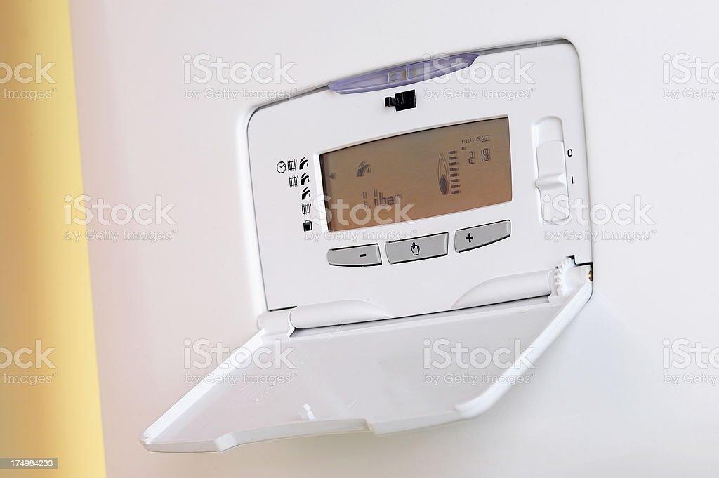 Digital Thermostat stock photo