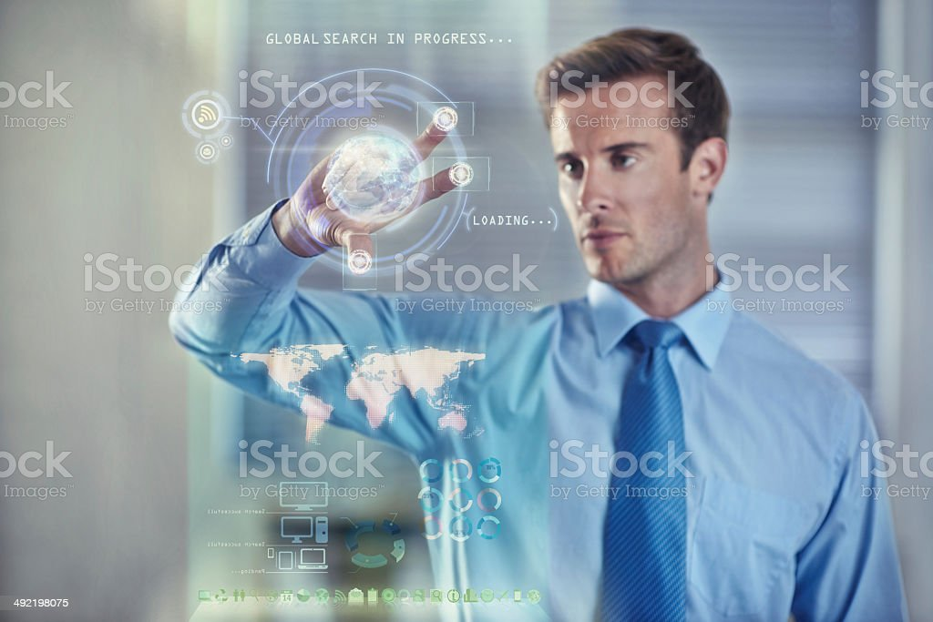 Digital tools for the modern businessman stock photo