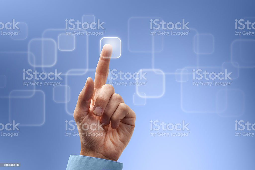 Digital Touch to the Future stock photo