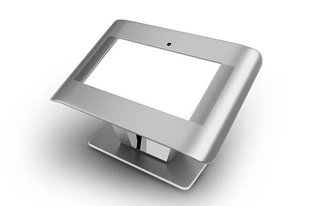 digitale touchscreen bord - raumteiler weiß stock-fotos und bilder