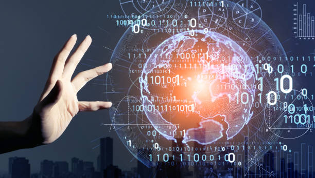 Digital transformation concept. Binary code. AI (Artificial Intelligence). Digital transformation concept. Binary code. AI (Artificial Intelligence). digitized stock pictures, royalty-free photos & images