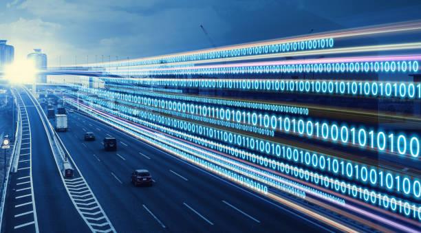 digitales transformationskonzept. binärcode. - austauschen stock-fotos und bilder
