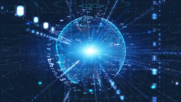 digitaal transformatie concept. binaire code. programmering. - physics stockfoto's en -beelden