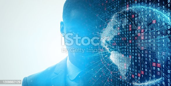 istock Digital transformation concept. Network security. AI (Artificial Intelligence). 1209662129