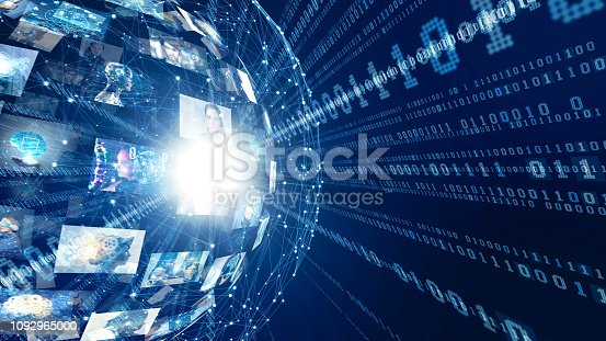 istock Digital transformation concept. 1092965000