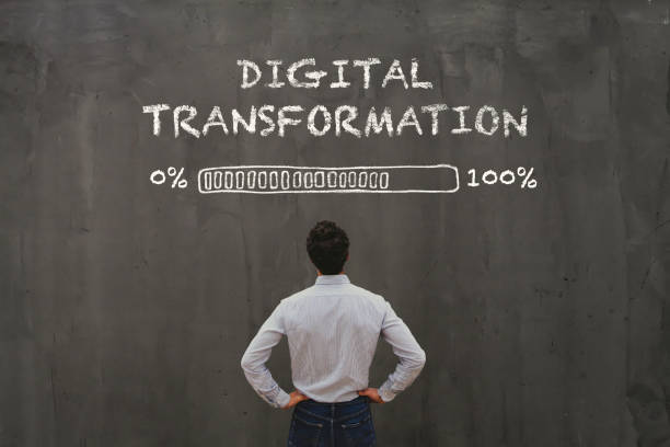 digital transformation concept stock photo