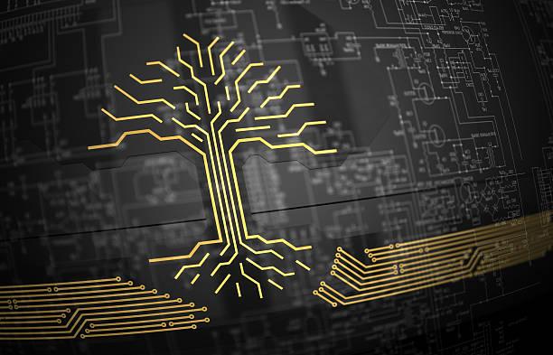 Digital tree stock photo