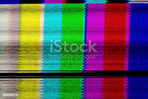 Digital tv screen and television broadcast glitch