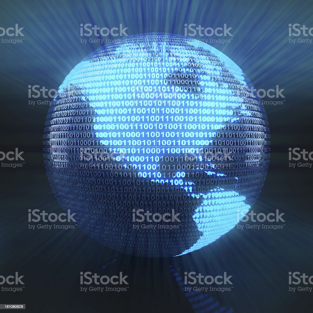 Digital US globe royalty-free stock photo