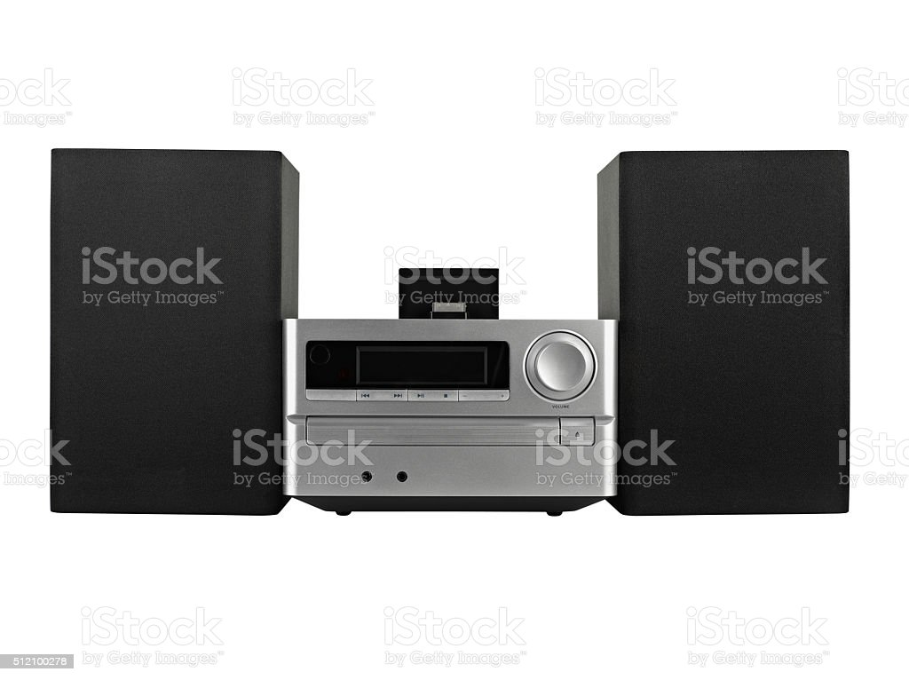 digital usb ,Tuner, cd player- clipping path stock photo