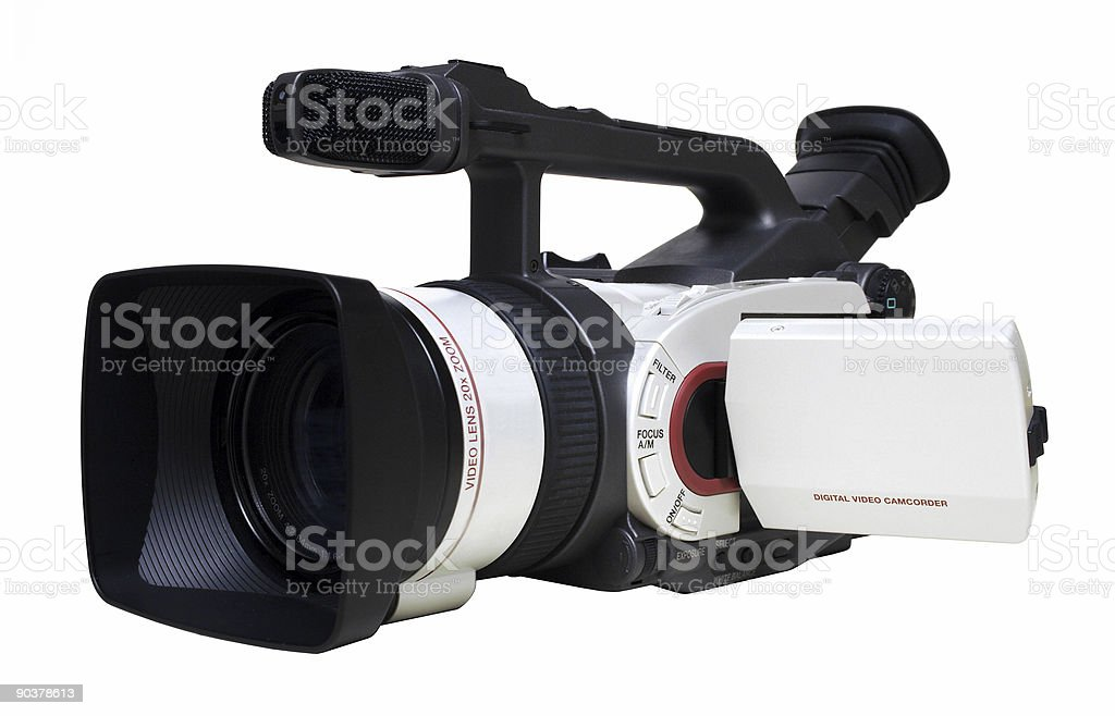 Digital Video Camera Angle View - Isolated stock photo