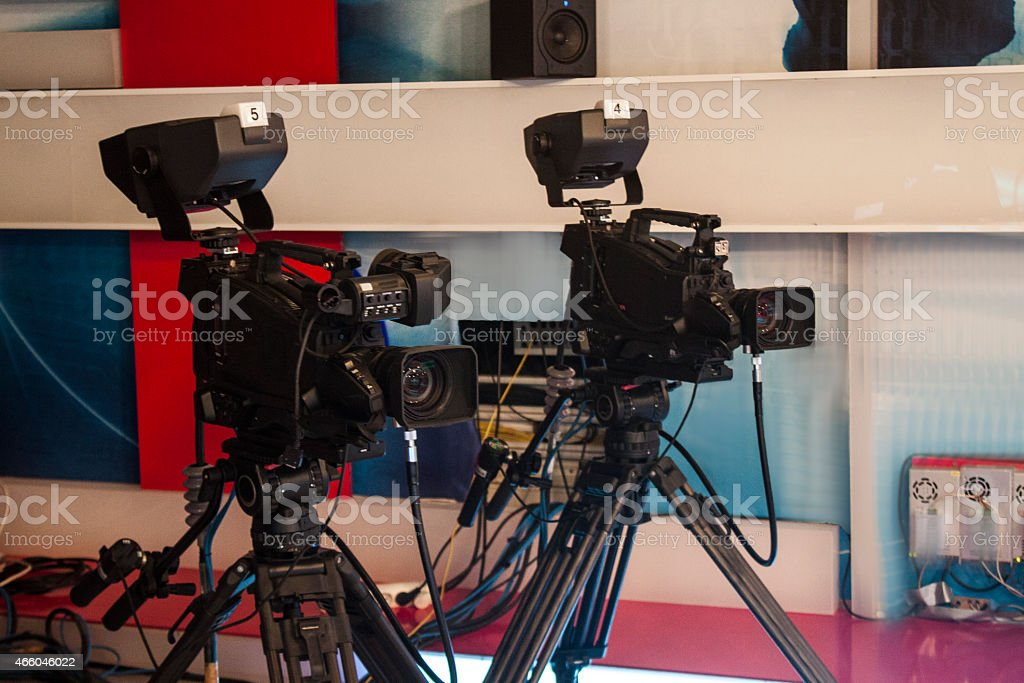 TV digital video camera - for professional HDTV production stock photo