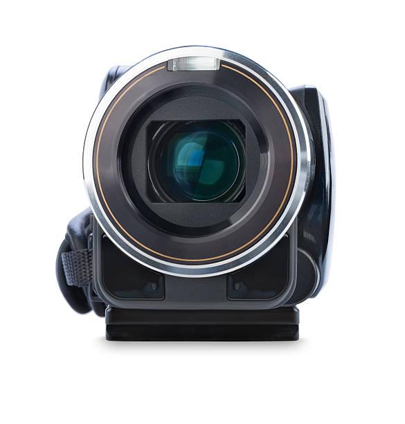 Digitale Videokamera, isoliert auf weißem Hintergrund – Foto