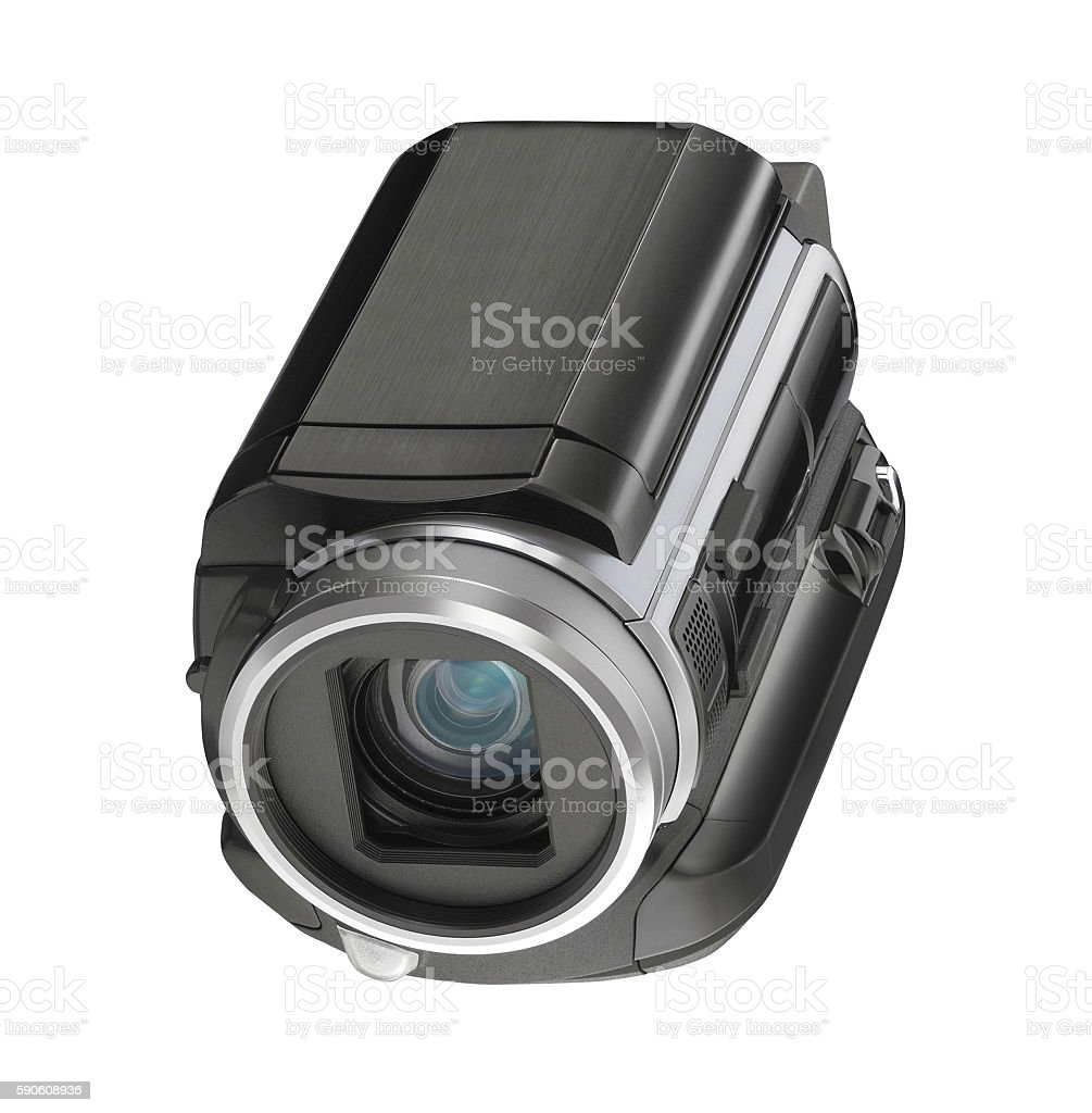 Digital video camera isolated stock photo