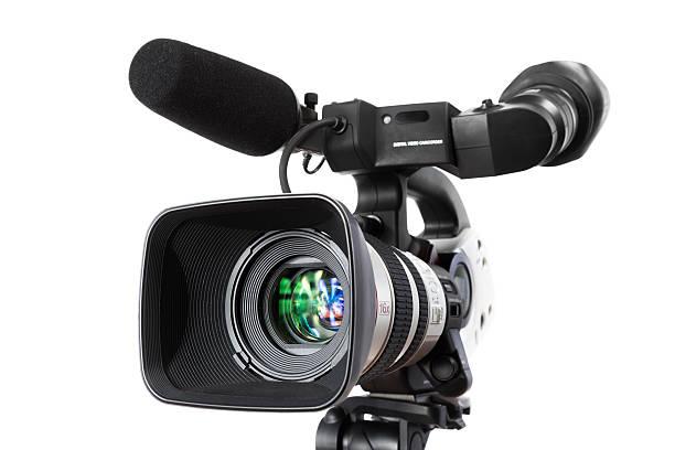 Digital Video-Kamera auf weißem Hintergrund – Foto