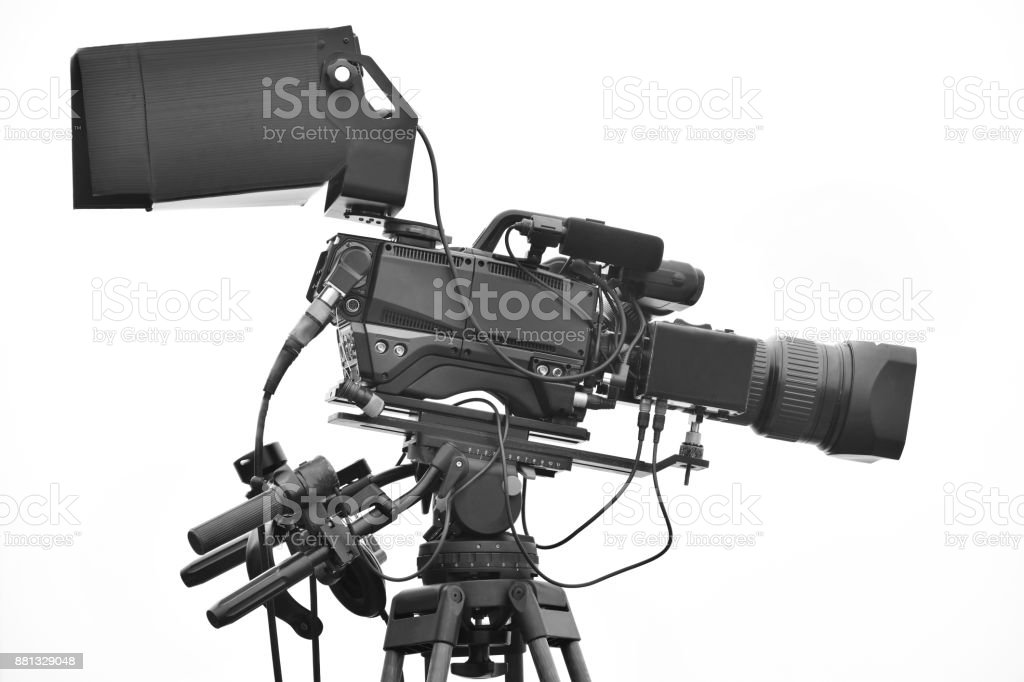 Digital video camera only use Television stock photo