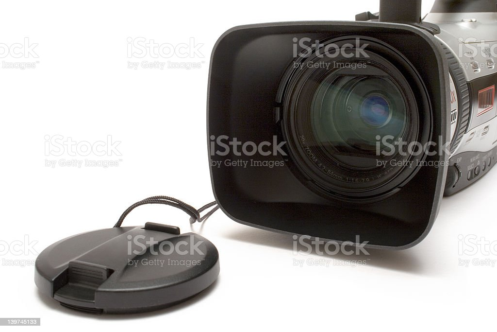 Digital Video Camera  (Detail Front View) royalty-free stock photo