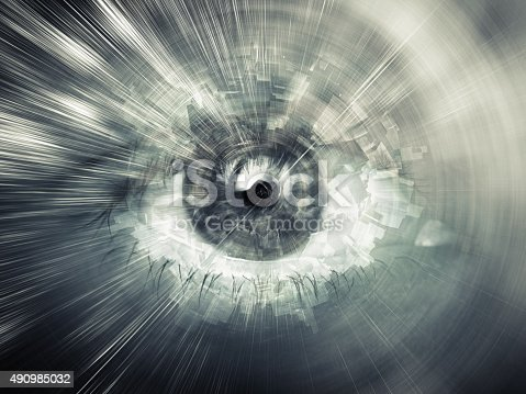 510584002istockphoto Digital vision concept, abstract computer illustration 490985032