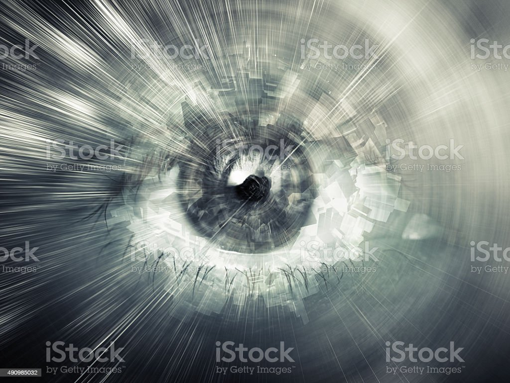 Digital vision concept, abstract computer illustration stock photo