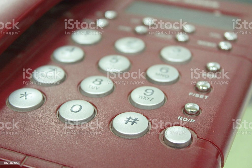 Digital VoIP conference phone, speaker close-up - Stock Image stock photo