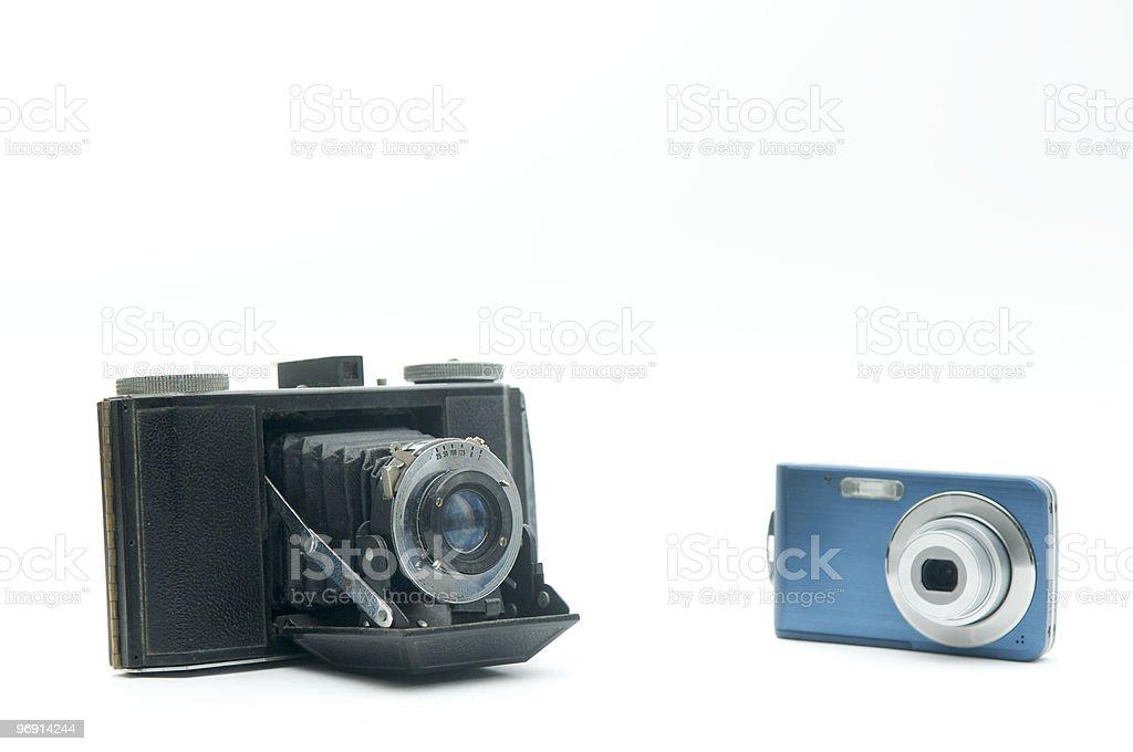 digital Vs. film royalty-free stock photo