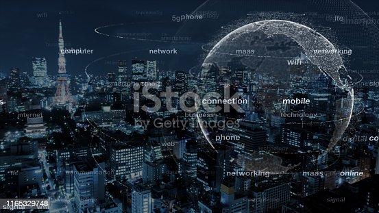 Digital world 5G AI IoT Fintec