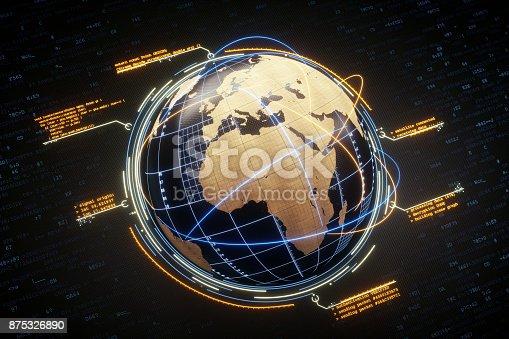 istock Digital World And Global Communication 875326890