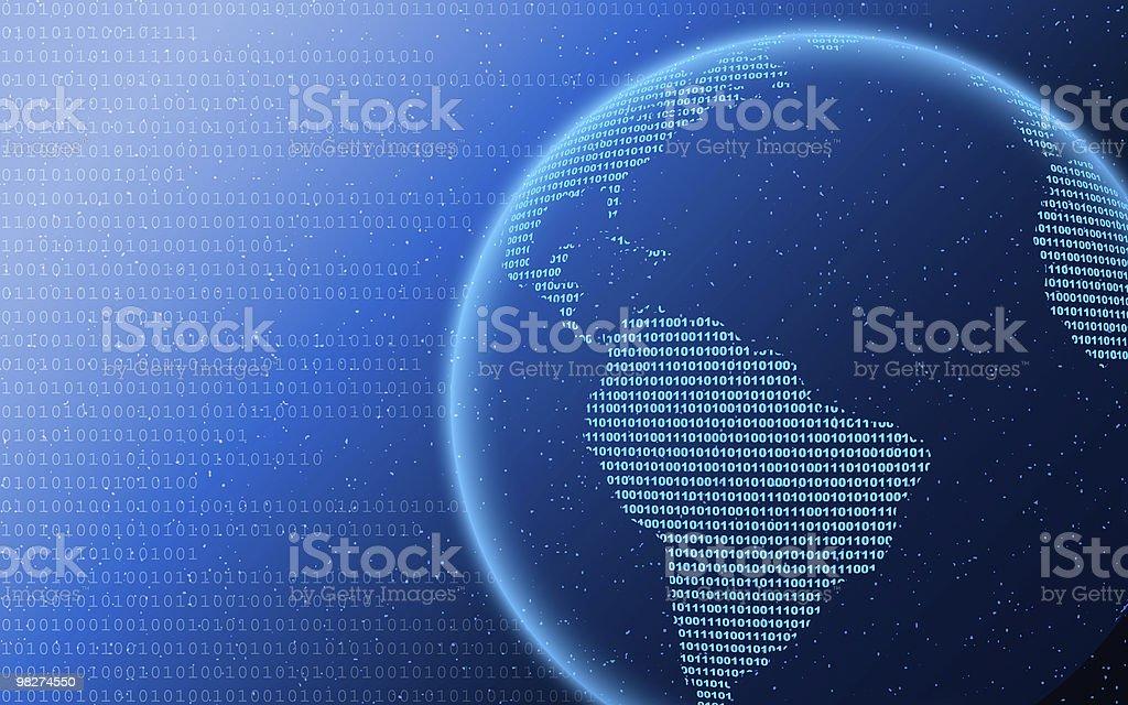 Digital World Background royalty-free stock photo