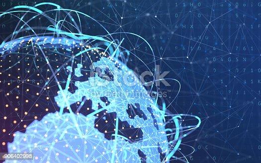 istock Digital world. Concept of wireless technology. 906402998