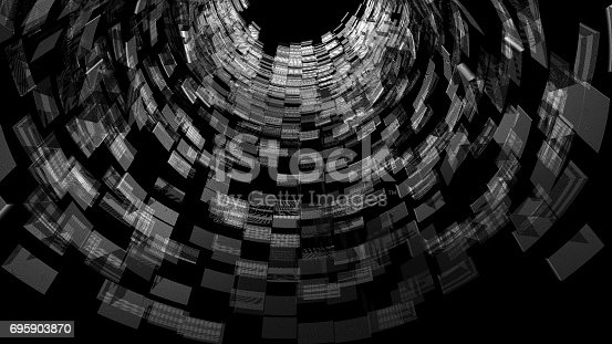 istock Digital world in a cyberspace tunnel 695903870