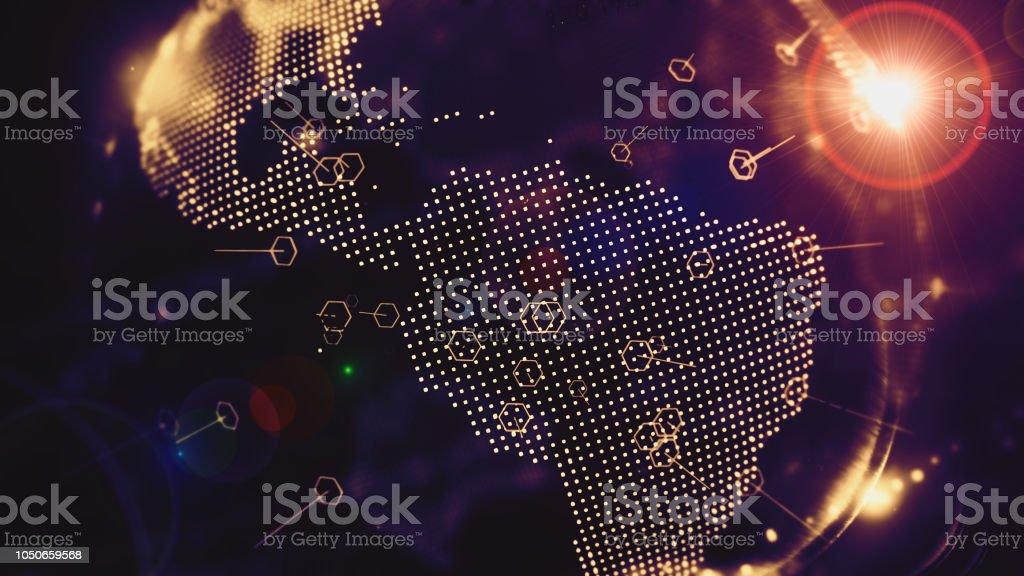 Mundo digital, Internet das coisas e o conceito de grande volume de dados - foto de acervo