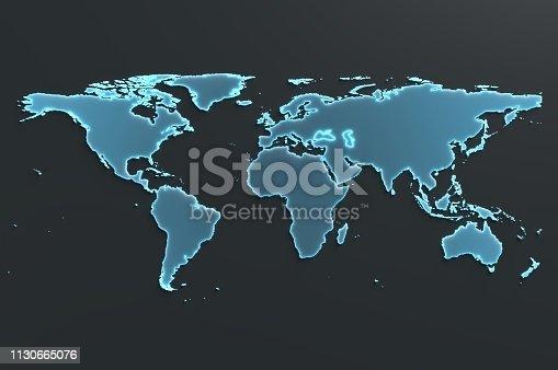 istock Digital World Map 1130665076
