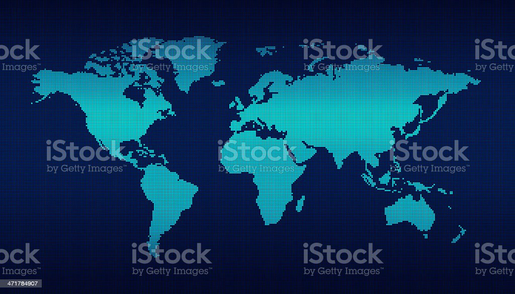 digital world map stock photo